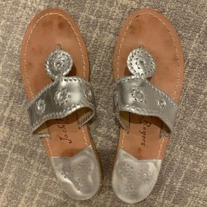 Jack Rogers sandals silver size 8
